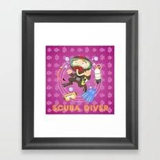 Scuba dive Framed Art Print