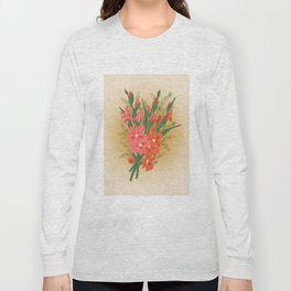 Bouquet of pink and red gladioluses Long Sleeve T-shirt
