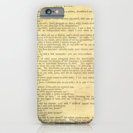 Jane Eyre, Mr. Rochester First Marriage Proposal by Charlotte Bronte iPhone Case