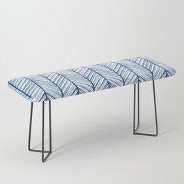 Shibori Herringbone Pattern Bench
