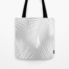 Gray Tropical Pattern Tote Bag