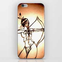 "Women with no faces--series ""Native American"" iPhone Skin"