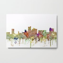 Lubbock, Texas Skyline - Faded Glory Metal Print