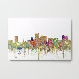 Lubbock, Texas Skyline - Faded Glory Metal Print