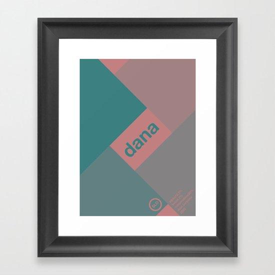 dana single hop Framed Art Print