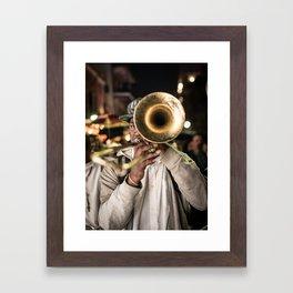 New Orleans Second Line Framed Art Print