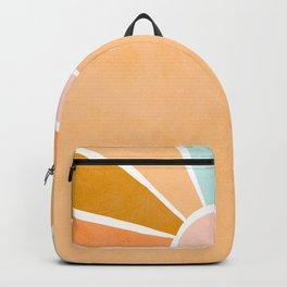 Peachy Sunset Rainbow Backpack