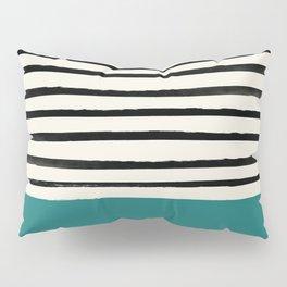 Teal x Stripes Pillow Sham