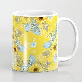Beautiful Sunflower Pattern Coffee Mug