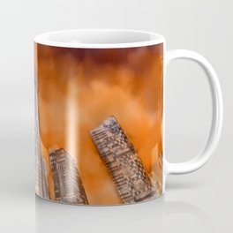 City in sunset Coffee Mug