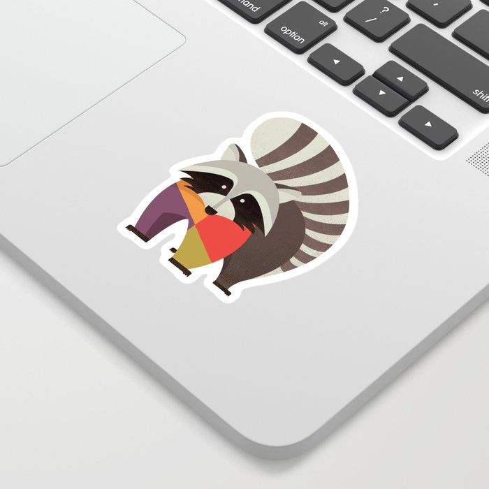 Raccoon Sticker