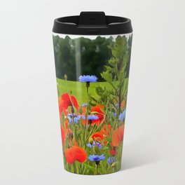 Poppies And Cornflowers Travel Mug