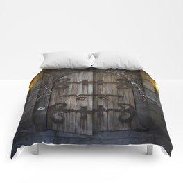 Gothic Spooky Door Comforters