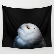Winter White Snowy Owl Wall Tapestry