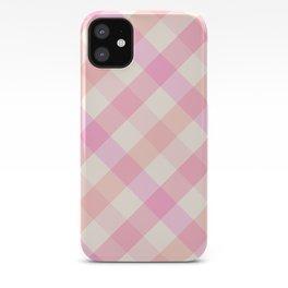 Pink Plaid iPhone Case