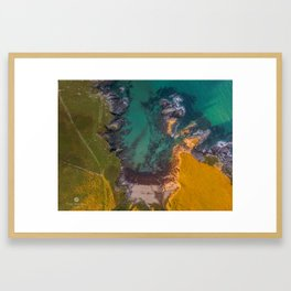 Aerial - South Devon - Coast Line - Soar Mill Cove Framed Art Print