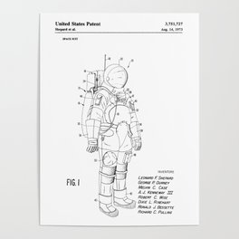 NASA Space Suit Patent Poster