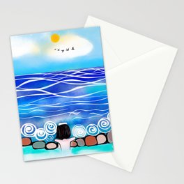 Onsen by the sea Stationery Cards