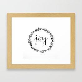 Joy Wreath Framed Art Print