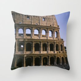 The Colosseum in Rome. Throw Pillow