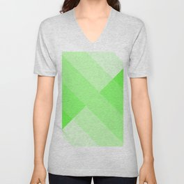 green and white gradient 3 Unisex V-Neck