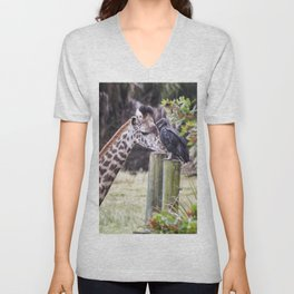 An Unlikely Couple Unisex V-Neck