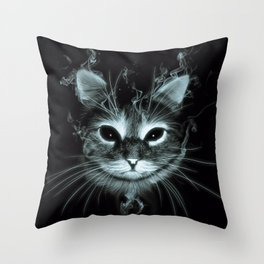 Smoke Cat Throw Pillow