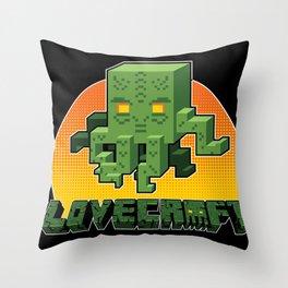 Minecraftian Throw Pillow