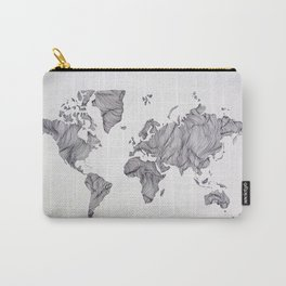 Whimsical Topography World Map Art Carry-All Pouch