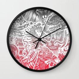 Animals color Wall Clock