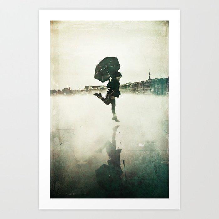 La danse de la pluie Art Print