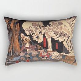 Takiyasha the Witch and the Skeleton Spectre, by Utagawa Kuniyoshi Rectangular Pillow