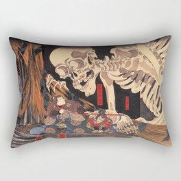 Takiyasha the Witch and the Skeleton Spectre, by Utagawa Kuniyoshi Rectangular Pillow