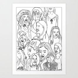 GirlsGirlsGirls Art Print
