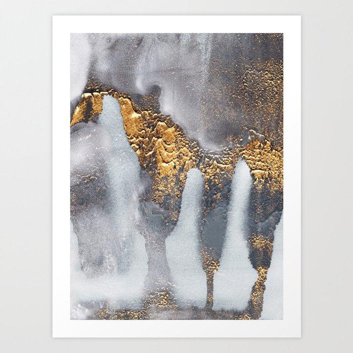 Concrete Gold Art Print