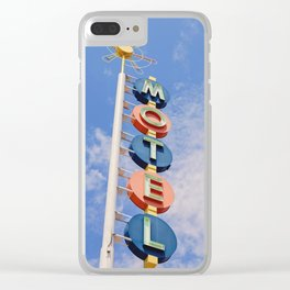 Vintage Motel Clear iPhone Case