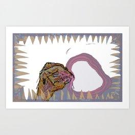 mucus feegind gif Art Print