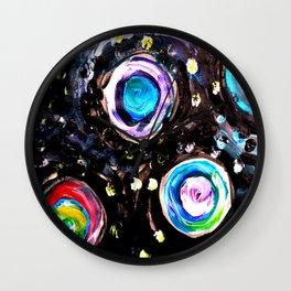 Color Swirl Wall Clock