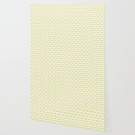 Playing Cards Pattern Grey Yellow on White Wallpaper