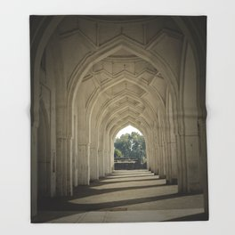 Arched colonnade Throw Blanket