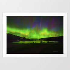 Northern Lights at Historic Fayette Art Print