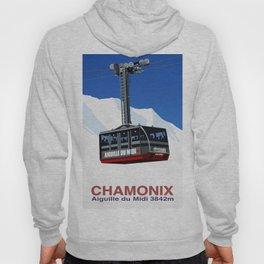 Chamonix Ski Resort , Aiguile du Midi Cable Car Hoody