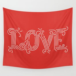 Love (red) Wall Tapestry