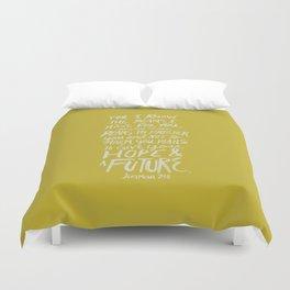 Jeremiah 29: 11 x Mustard Duvet Cover