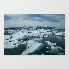 Jökulsárlón glacier lagoon Canvas Print
