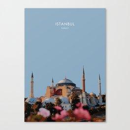Hagia Sofia, Istanbul, Turkey Travel Artwork Canvas Print