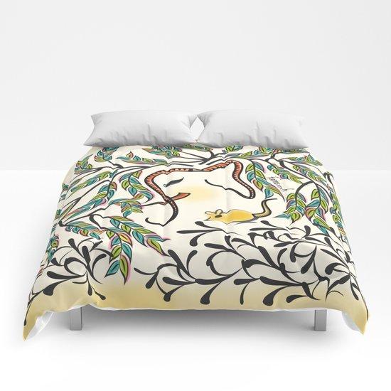 Vibrant Jungle Ele Comforters