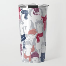 Happy llamas Christmas Choir III Travel Mug