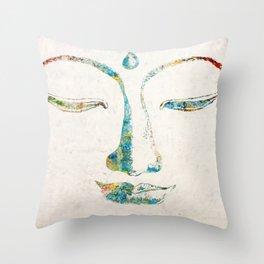 Buddha Squared Throw Pillow