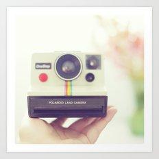 Polaroid Love. Art Print